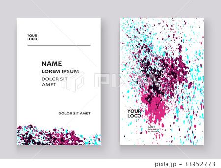 Neon explosion paint splatter artistic coversのイラスト素材 [33952773] - PIXTA