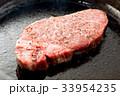 ステーキ 焼く 料理の写真 33954235
