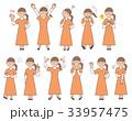 女性4 表情セットA 33957475