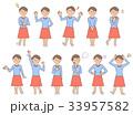 女性1 表情セットB 33957582
