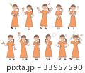 女性4 表情セットB 33957590