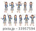 女性6 表情セットB 33957594