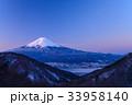 厳冬 河口湖 富士山の写真 33958140