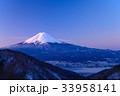 厳冬 河口湖 富士山の写真 33958141