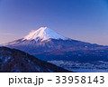 厳冬 富士山 世界遺産の写真 33958143