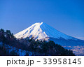 厳冬 富士山 雪山の写真 33958145