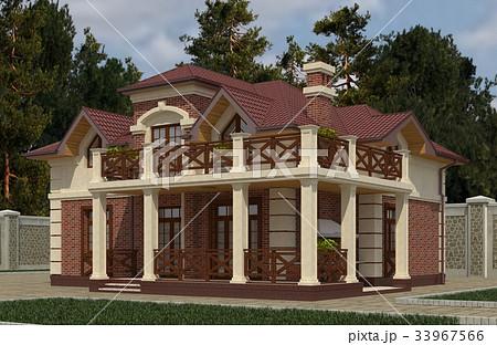 Building Photo Realistic Render 3D Illustration 33967566
