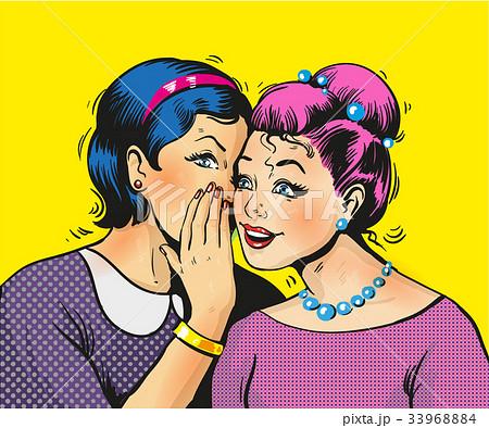 Pop art girls share secrets pin up pop art comic 33968884