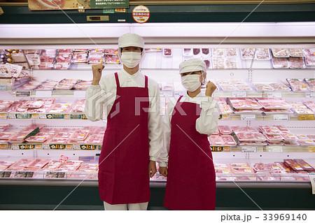 スーパー 精肉コーナー 33969140