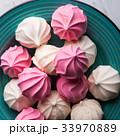 メレンゲ ピンク ピンク色の写真 33970889