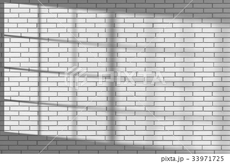 White brick wall with sunlight from window 33971725