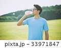 ジョギング(水分補給) 33971847