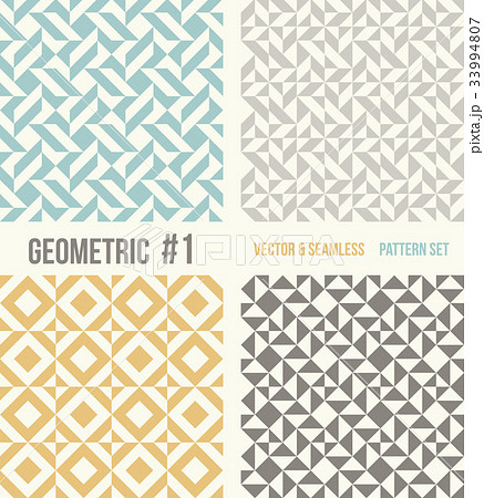 Set of four geometric patternsのイラスト素材 [33994807] - PIXTA