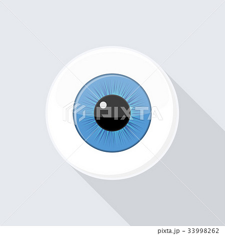 human eyeball eye with bright blueのイラスト素材 33998262 pixta