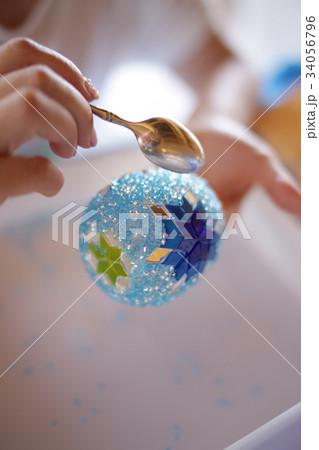 トルコランプ 作成 perming 写真素材 34056796