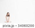 女性 若い 白の写真 34060200