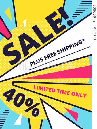 Flat design sale website banner template 34060806