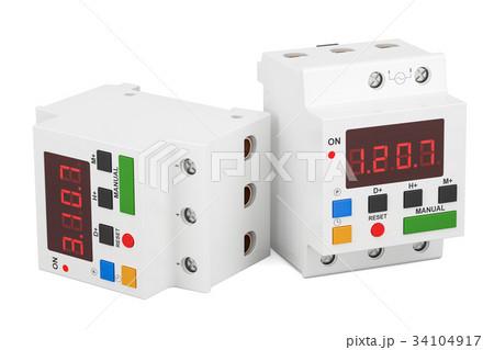 Digital timer switches, 3D renderingのイラスト素材 [34104917] - PIXTA