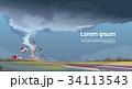 ハリケーン 景色 風景のイラスト 34113543