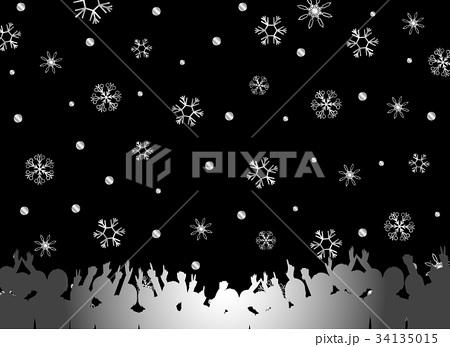観客 雪の結晶 34135015