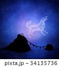 星座 星 星空のイラスト 34135736