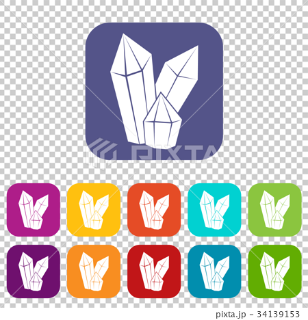 Diamonds icons set 34139153