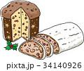 ベクター クリスマス シュトーレンのイラスト 34140926