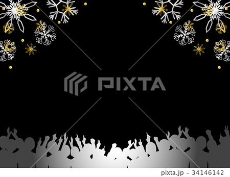 観客 雪の結晶 34146142