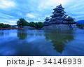 松本城 夕方 国宝の写真 34146939