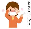 熱がある女性 34151395