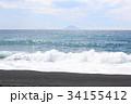 大島町 海 波の写真 34155412