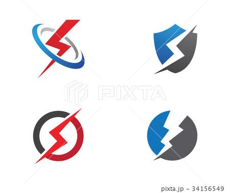 Lightning Logo Templateのイラスト素材 [34156549] - PIXTA