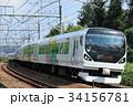 列車 電車 特急の写真 34156781