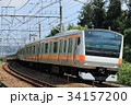 列車 電車 中央線の写真 34157200