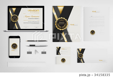 Set of office documents for business. 34158335