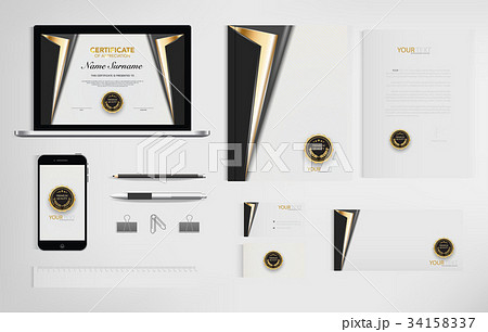 Set of office documents for business. 34158337