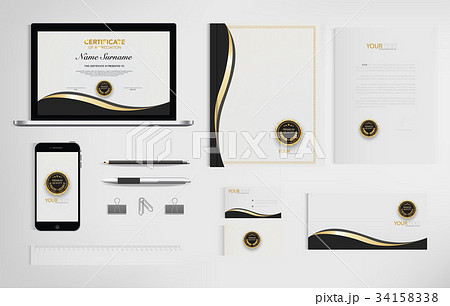 Set of office documents for business. 34158338