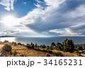 チチカカ湖 湖 タキーレ島の写真 34165231