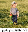 Toddler child outdoors. One year old baby boy 34165822