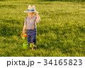Toddler child outdoors. One year old baby boy 34165823