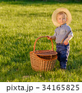 Toddler child outdoors. One year old baby boy  34165825