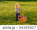 Toddler child outdoors. One year old baby boy  34165827