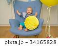 One year old baby boy first birthday.  34165828