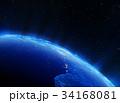 Africa city lights 3d rendering 34168081
