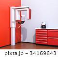 ワインレッドカラーに統一されたデンタルレントゲン室のイメージ 34169643
