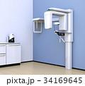 パステルブルーカラーのデンタルレントゲン室のイメージ 34169645