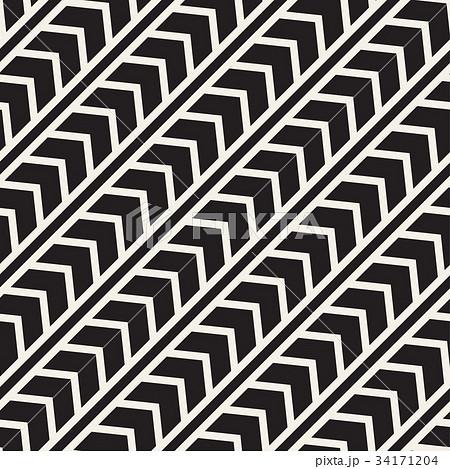 Vector seamless zigzag line pattern. Abstractのイラスト素材 [34171204] - PIXTA