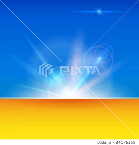 Blurred light rays and lens flare backdrop with 34176359