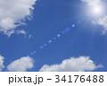 青空と太陽のイメージ 34176488