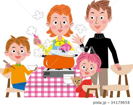 鍋料理 家族 冬の食卓 34179658